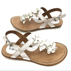 b.o.c White Floral Shower Sandals
